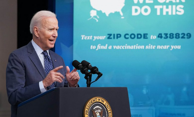 Biden doubles down on U.S. efforts to get more Americans vaccinated by the Fourth of July