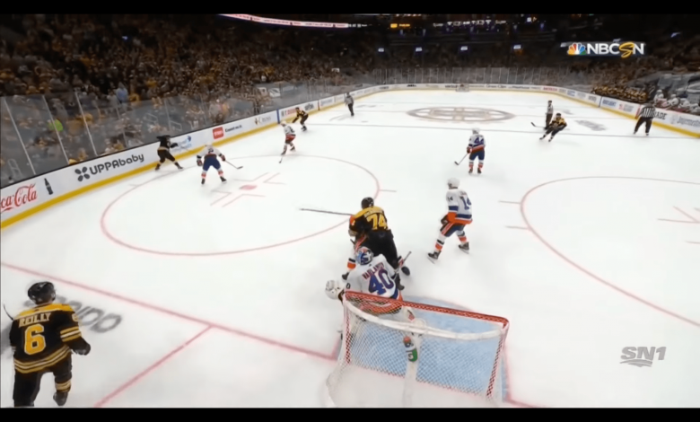 Boston Bruins winger Jake DeBrusk was fined $5,000 by the NHL on Tuesday afternoon for cross-checking New York Islanders defenseman Scott