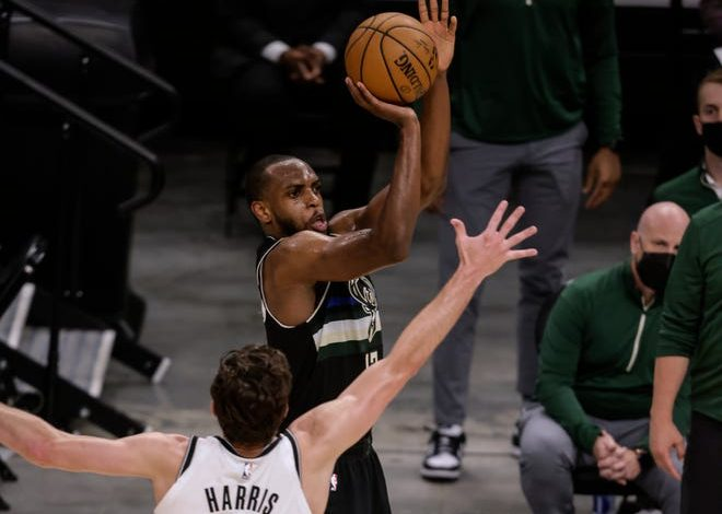 Khris Middleton scored a playoff career-high 38 points for the Bucks.