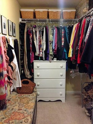 An organized closet is key to knowing what you have versus what you don't need.