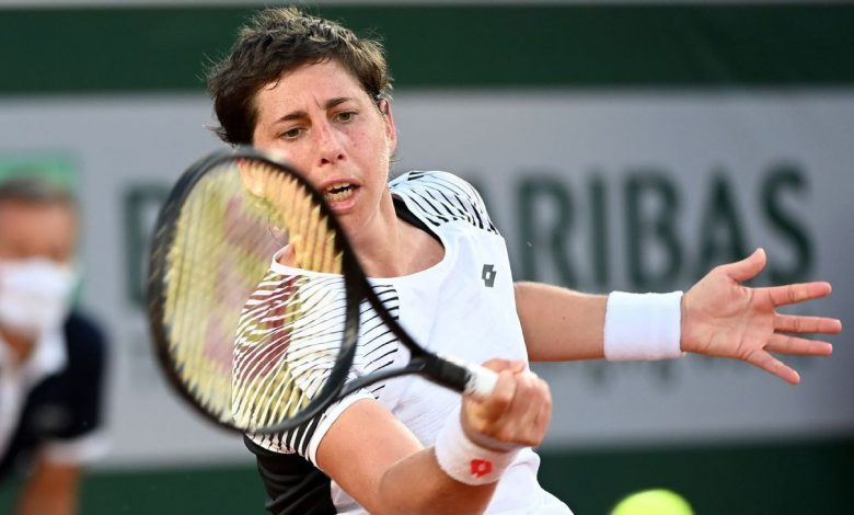 Carla Suarez Navarro gives inspirational effort in first match since being declared cancer-free