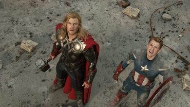 """Chris Hemsworth and Chris Evans in a scene from the 2012 motion picture """"Marvel's The Avengers."""""""