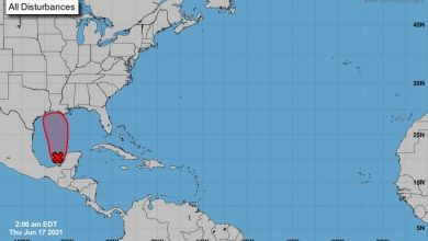 Area of low pressure with potential for development as of 2 a.m. June 17, 2021.