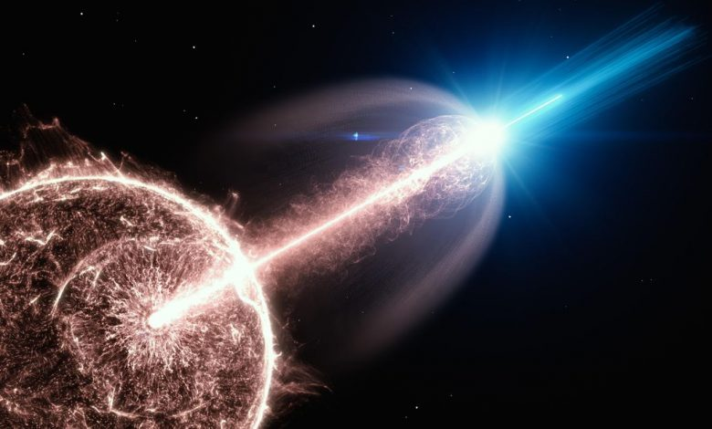 Collapsing star produces one of the most fantastic explosions ever seen