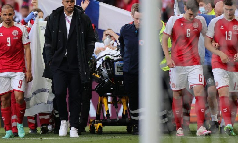Denmark's Christian Eriksen stable after collapsing, receiving CPR in Euro 2020 game with Finland
