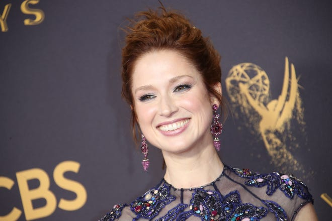 In this 2017 file photo, Ellie Kemper arrives on the red carpet at the 69th Emmy Awards.