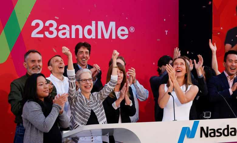 Gene testing firm 23andMe trades higher after Branson SPAC merger