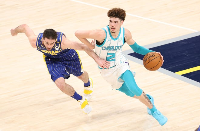 LaMelo Ball averaged 15.7 points, 6.1 assists and 5.9 rebounds – one of nine players and the only rookie to post at least 15-6-5.9 per game.