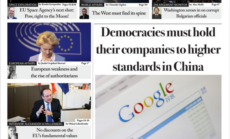 Issue 1389:Democracies must hold their companies to higher standards in China (Digital Edition)