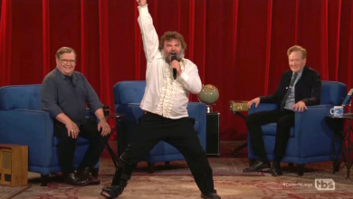 Jack Black sprains his ankle while filming 'Conan' finale