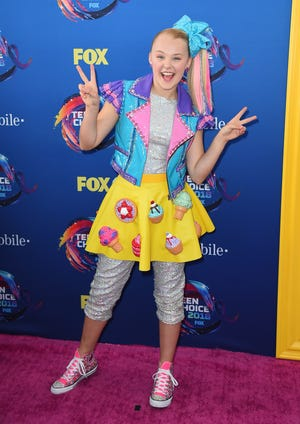 """JoJo Siwa doesn't like a kissing scene in her upcoming movie """"Boucne"""" because it requires her to kiss a man."""