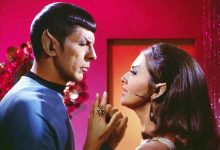"""Joanne Linville, right, who played a Romulan commander who gets involved with Mr. Spock (Leonard Nimoy) in a memorable 1968 """"Star Trek"""" episode, died June 20 at the age of 93. She appeared in more than 100 TV shows and films during a long acting career."""