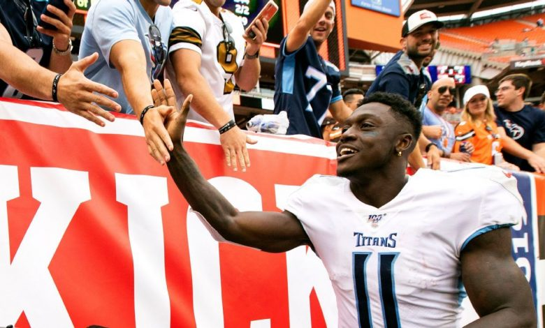 Julio Jones declines to take No. 11 from Tennessee Titans' A.J. Brown, will wear No. 2