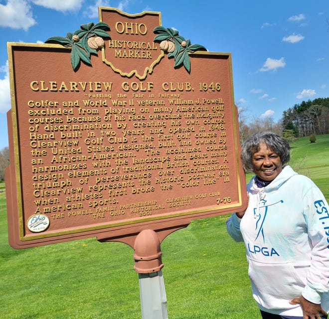 """Renee Powell, LPGA/PGA Head Golf Professional, at the National Historic Site  at Clearview Golf Club in East Canton Ohio, affectionately known as """"America's Course."""""""
