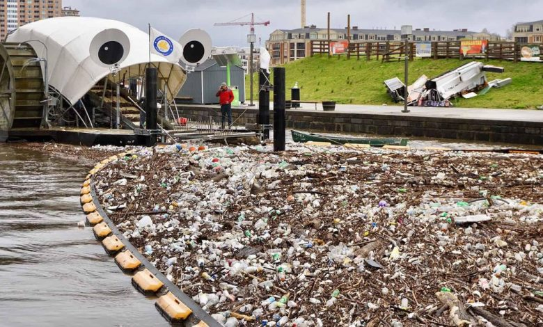 Mr. Trash Wheel is gobbling up millions of pounds of trash