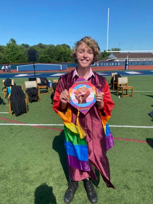 Bryce Dershem's valedictorian speech about his queerness and mental health was cut short by school administrators.