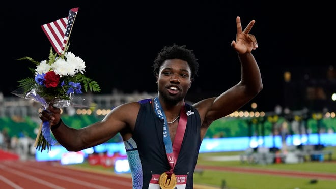 Noah Lyles punches ticket for Tokyo in 200 meters