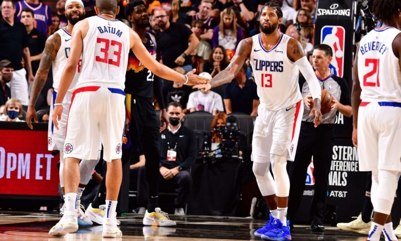 Paul George scores 41 points, a playoff career high, to help LA Clippers stave off elimination in Phoenix