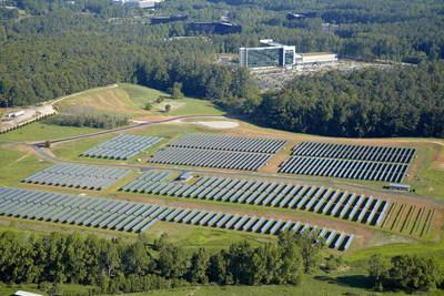 In addition to the solar farm, the campus at SAS' headquarters features many sustainable practices to operate more efficiently. (photo courtesy of SAS)