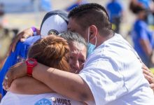 Separated families embrace in Rio Grande for Hugs Not Walls