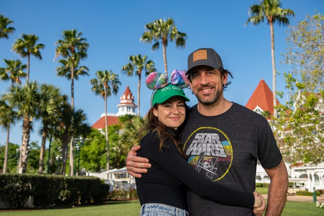 Shailene Woodley and Aaron Rodgers enjoyed a stay at Disney's Grand Floridian Resort during a vacation in April to Walt Disney World Resort in Lake Buena Vista, Fla.