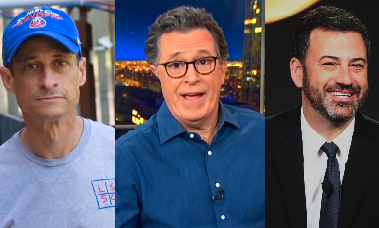 Stephen Colbert offers Anthony Weiner hilarious gift at Jimmy Kimmel's expense
