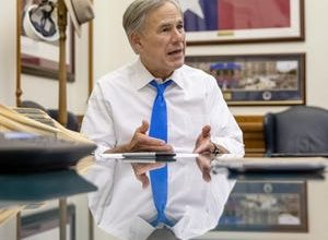 Gov. Greg Abbott talks about the 87th Texas Legislature in his office at the Capitol on Wednesday on June 2, 2021.