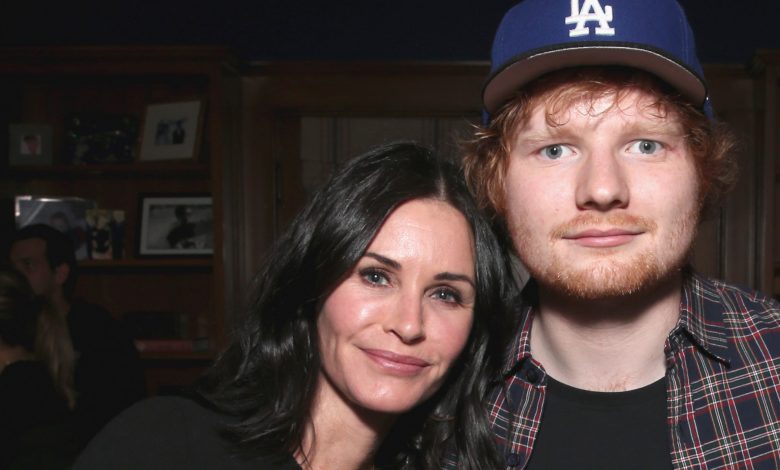 The NSFW gift Courteney Cox keeps getting from Ed Sheeran