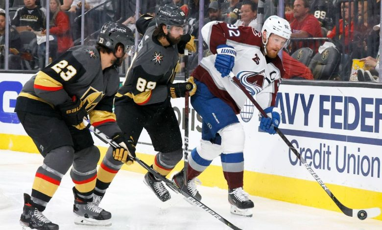 Vegas Golden Knights look to even series up with Colorado Avalanche
