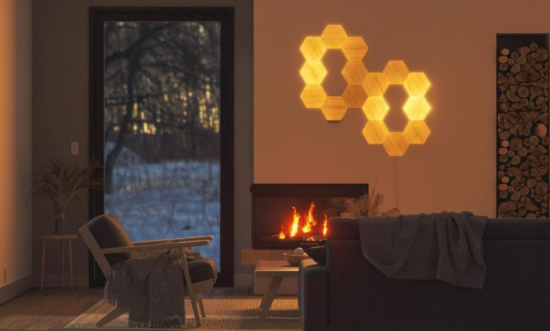 Wood-look LED light panels bring the warmth of the outdoors inside