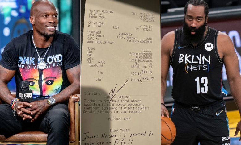 """Over the weekend, the former NFL wide receiver known as """"Chad Ochocinco"""" paid a large gratuity to his waitress at Harden's Thirteen Houston restaurant."""
