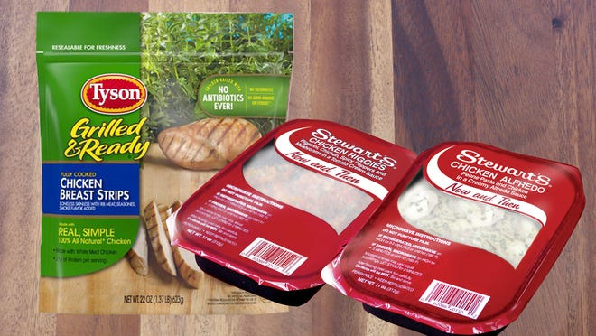 Stewart's Shops has three products that are affected by the Tyson Foods' nationwide chicken recall.