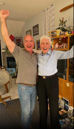 Wally Funk, a 82-year-old pilot, will join Jeff Bezos in traveling to space this month on the first crewed spaceflight for the billionaire's company Blue Origin. Funk will be the oldest person ever to fly to space when she takes part in the July 20 journey aboard the New Shepard launch vehicle along with Bezos, his brother Mark and the unnamed winner of an auction for another seat on the aircraft.