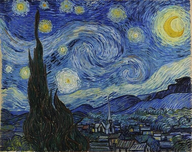 """Don McLean's """"Vincent"""" was inspired by Vincent Van Gogh's 1889 painting """"The Starry Night."""" [Public domain/Wikimedia Commons]"""