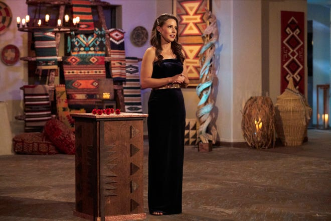 """Katie cuts her dating pool from 12 suitors to seven on the latest episode of """"The Bachelorette."""""""