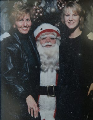 Carol, Santa and her daughter Jill Ziemkiewicz, a flight attendant who died on TWA Flight 800 that crashed off the coast of Long Island on July 17, 1996.