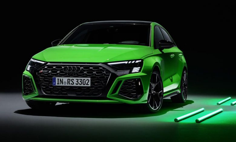 2022 Audi RS3 is a 401-hp compact sedan with a drift mode