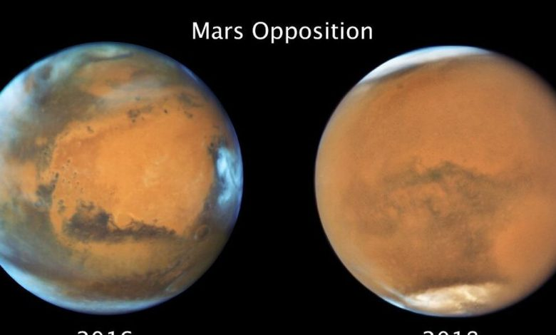 A global dust storm on Mars canceled winter on the red planet