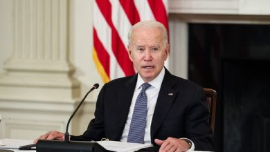President Joe Biden speaks before a meeting with Cuban-American leaders and activists in the State Dining Room of the White House on July 30, 2021.