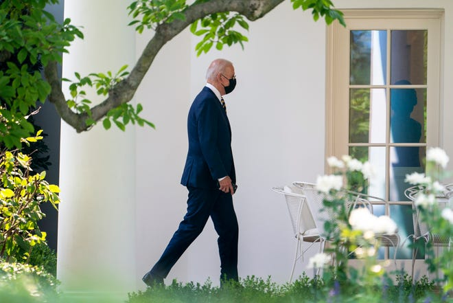 President Joe Biden arrives back at the White House in Washington, Wednesday, July 28, 2021, after traveling to Lower Macungie Township, Pa., to highlight American manufacturing.