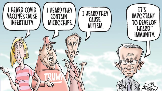 COVID-19 vaccine nonsense: Today's Mike Thompson toon