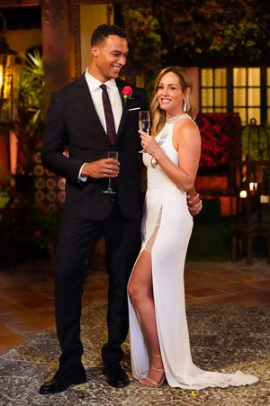 """Dale Moss proposed to Clare Crawley just four episodes into """"The Bachelorette."""" """"Love wins!!!! 💍❤️!!!"""" Crawley wrote on Instagram after the episode aired. """"I love you @dalemoss13 !!!!"""" """"Step by step. Day by day. Never alone,"""" Moss replied."""