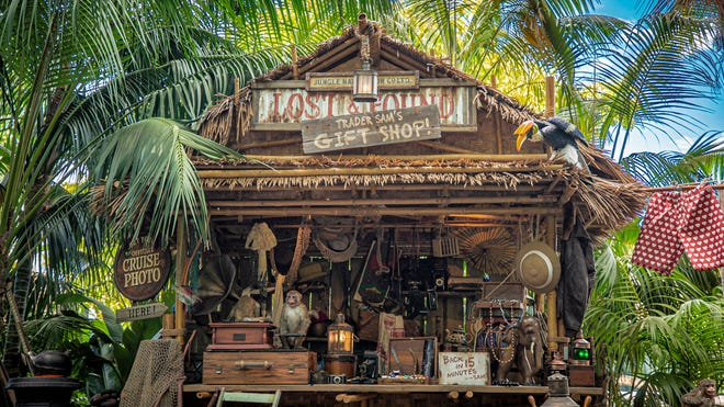 Trader Sam has been removed from the Jungle Cruise at Disneyland, with the Lost and Found hut turned into Trader Sam's Gift Hut.