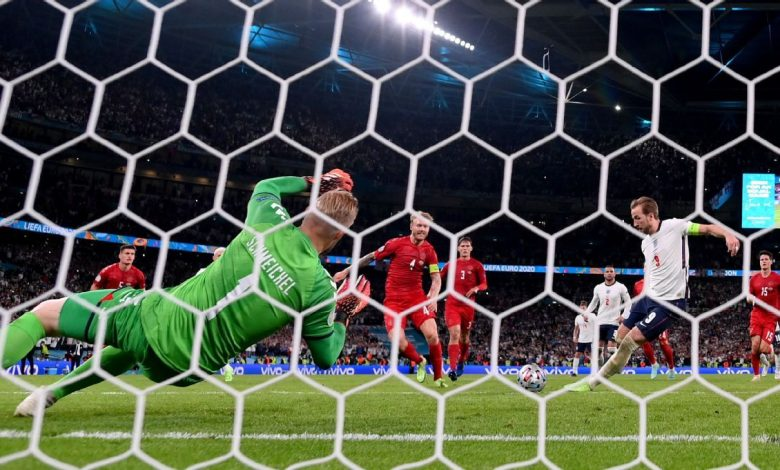 Euro 2020 - England charged after Kasper Schmeichel lasered prior to Harry Kane penalty