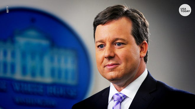 Former Fox News host Ed Henry, fired last year by the company after the investigation of a sexual misconduct allegation, filed a lawsuit Wednesday accusing his former employer and its CEO, Suzanne Scott, of defamation.