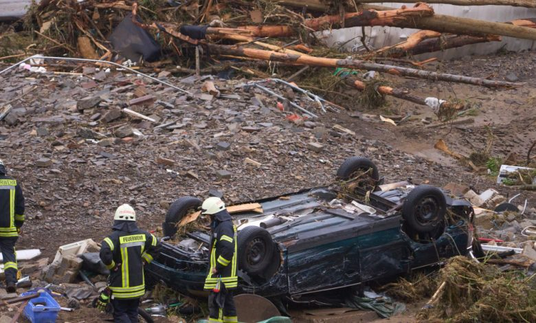 Germany's flood disaster comes at a politically crucial moment