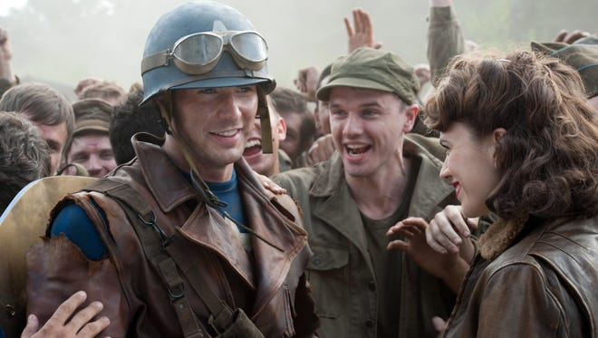 """Steve Rogers (Chris Evans) supports his fellow soldiers in """"Captain America: The First Avenger."""""""