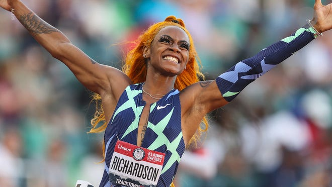 U.S. sprinter Sha'Carri Richardson's appearance at the Tokyo Olympics is in doubt after testing positive for marijuana.