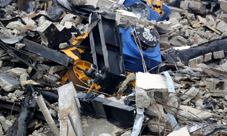 The rubble of the Champlain Towers South condo in Surfside, Fla., photographed July 6, 2021.