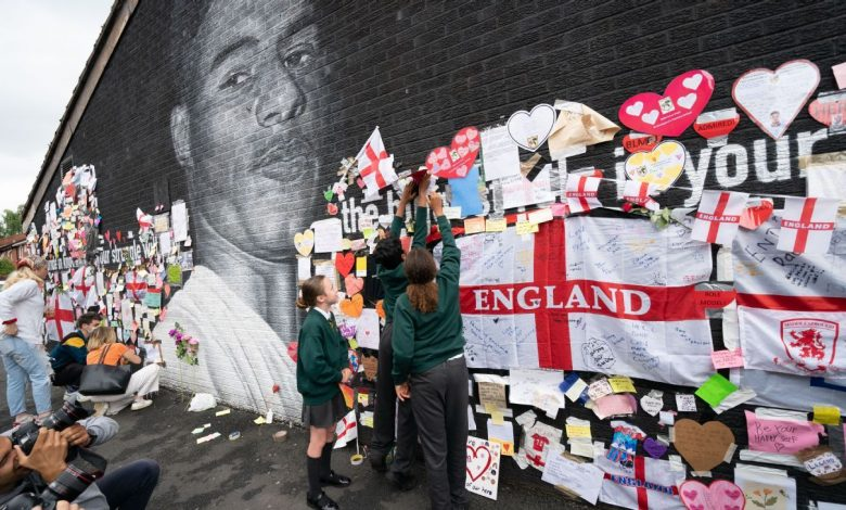 Marcus Rashford's Manchester mural turning hate into hope in fight against racism